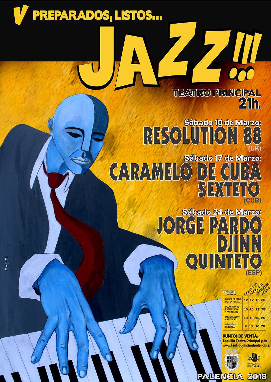 Cartel Preparados, Listos... Jazz 2018 Palencia
