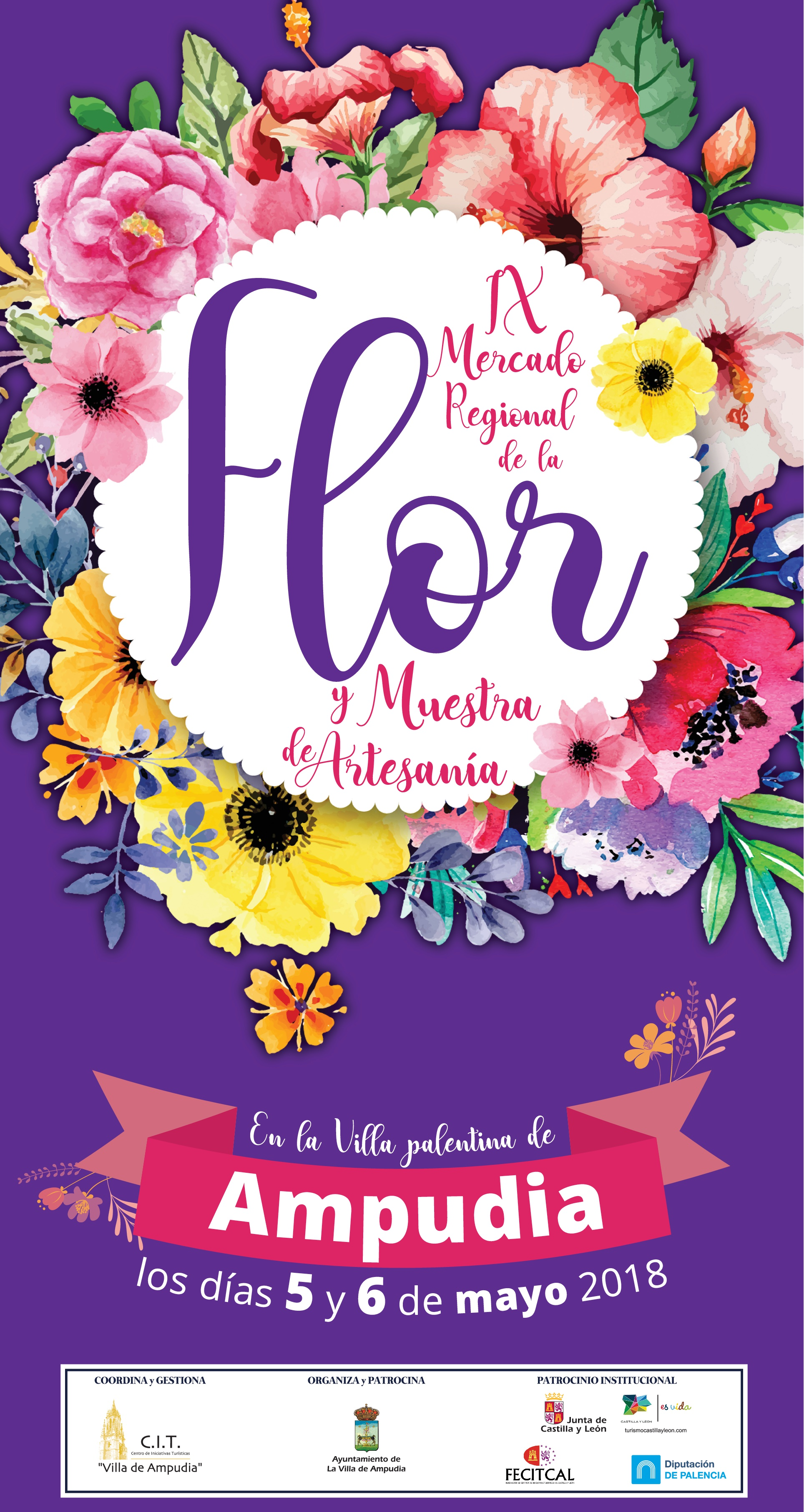 Mercado Regional de la Flor en Ampudia Palencia