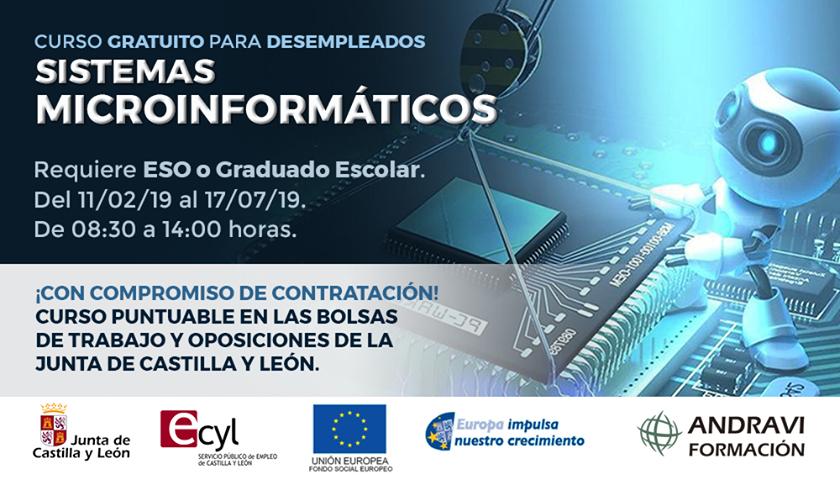 Formación sobre sistemas microinformáticos con salida profesional en Palencia